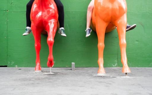 querformat-fotografie - Achim Katzberg - Royal Copenhagen - The Street Meet - [Royal Horses ● Kopenhagen / Juli 2015]