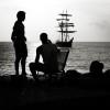 querformat-fotografie - Achim Katzberg - Street - Silhouetten & Schatten - The Ship