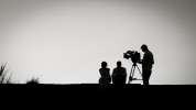 querformat-fotografie - Achim Katzberg - Street - Silhouetten & Schatten - équipe de tournage