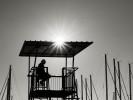 querformat-fotografie - Achim Katzberg - Street - Silhouetten & Schatten - [The Observer  ●  Trogir - Seget / September 2015]