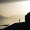 querformat-fotografie - Achim Katzberg - Street - Silhouetten & Schatten - [Dog & Go  ●  Supetar - Croatia / September 2015]